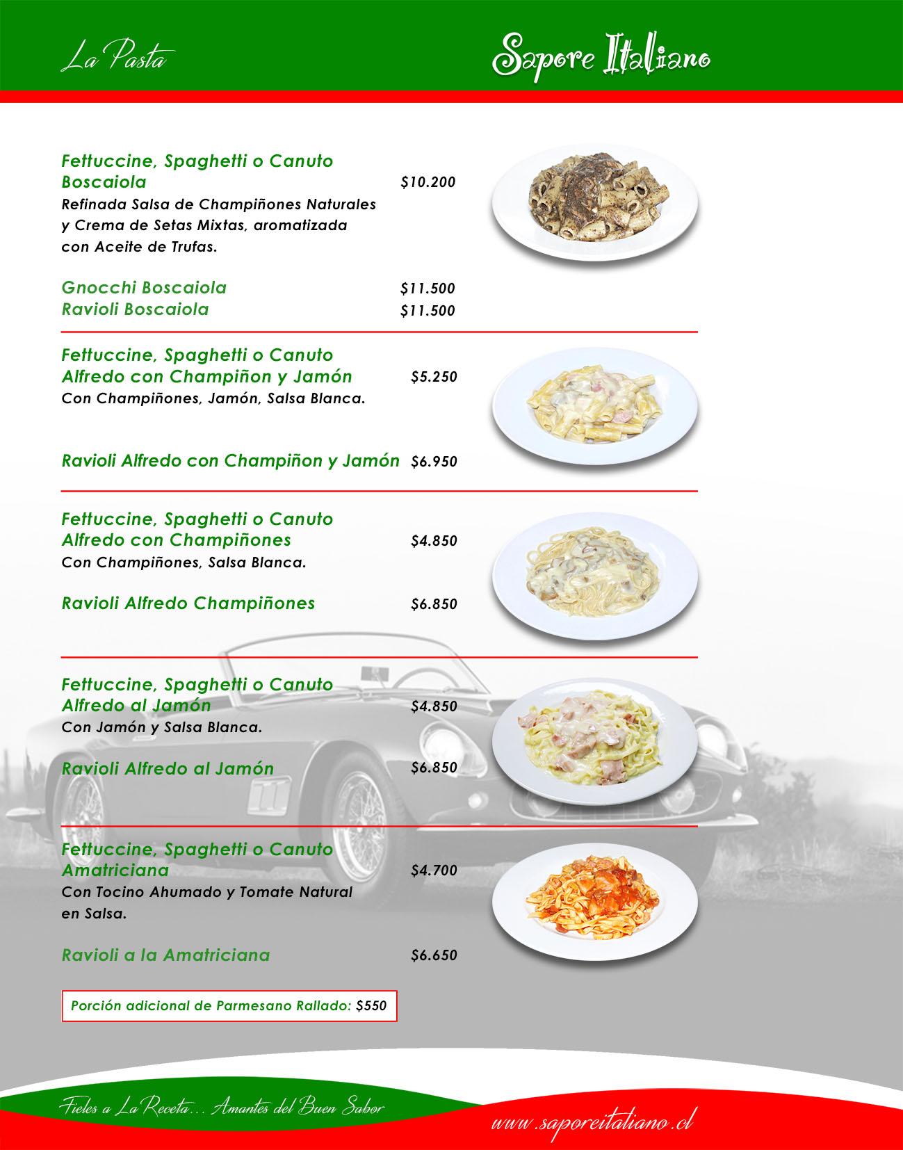 Sapore Italiano - Fieles a la Receta ... Amantes del buen sabor